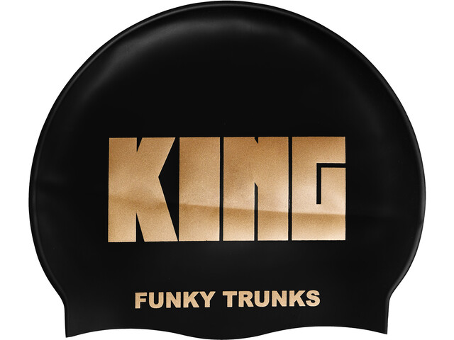 Funky Trunks Silicone Swimming Cap Hombre, crown jewels